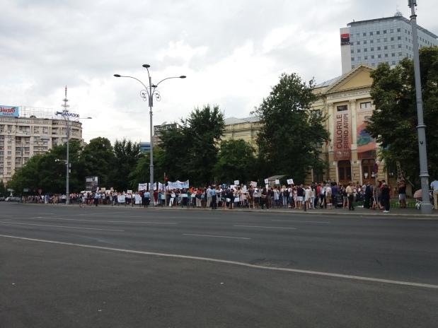 PROTESTUL ANTIVACCINARE OBLIGATORIE (București – Piața Victoriei) – Imagini foto,video