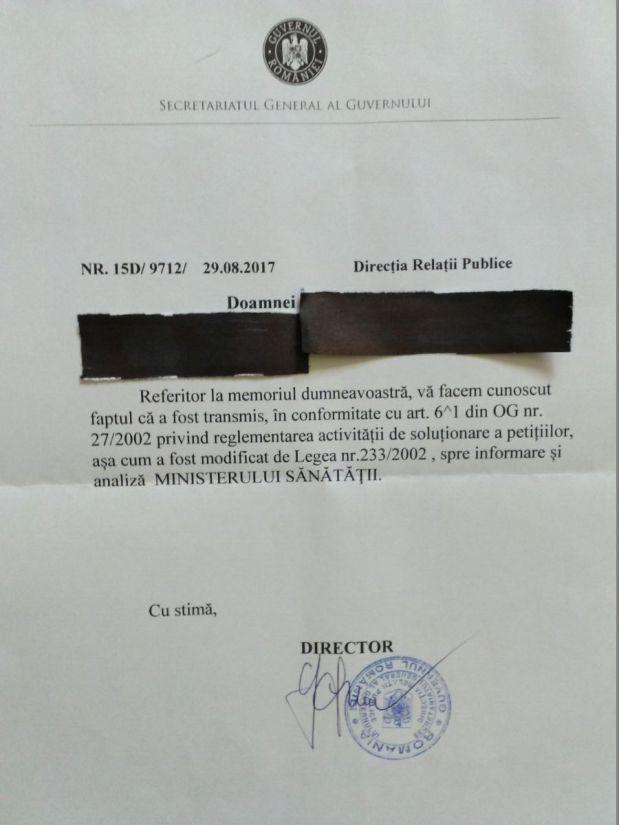 De la Ana la Caiafa – Răspunsul la Scrisoarea Protest (anti vaccinare obligatorie) venit din partea Secretariatului General alGuvernului