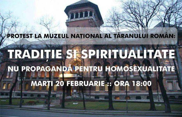 """Marți, 20 februarie, PROTEST al Noii Drepte la Muzeul Țăranului Român împotriva redifuzării filmului homosexual """"120 de bătăi peminut"""""""