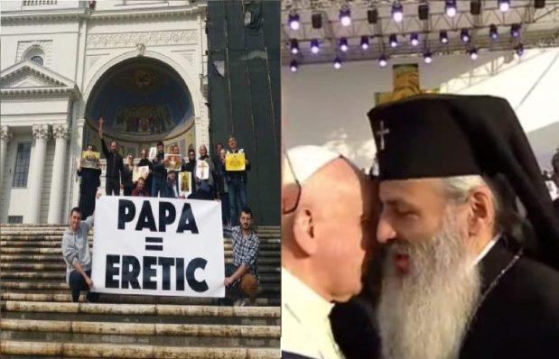 """Mitropolitul """"pelerin"""" Teofan se dezice public, de dragul """"ospitalității"""" papiste, de afirmația dogmatică """"Papa =Eretic"""""""