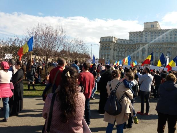 Imagini de la PROTESTELE împotriva vaccinării obligatorii de sâmbătă 7 martie2020